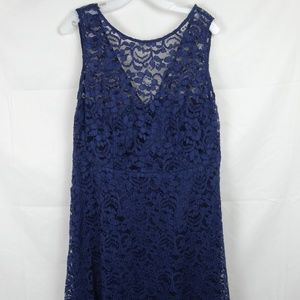 DAVID'S BRIDAL Sleeveless Lace Bridesmaid Dress 16